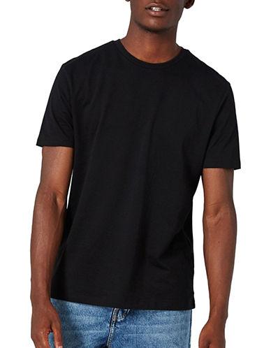 Topman Slim Fit Crew Neck T-Shirt-BLACK-XX-Large