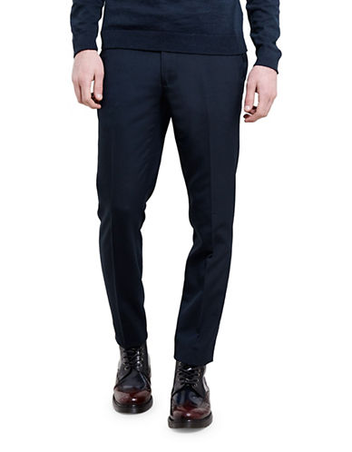 Topman Skinny Fit Dress Pants-DARK BLUE-34
