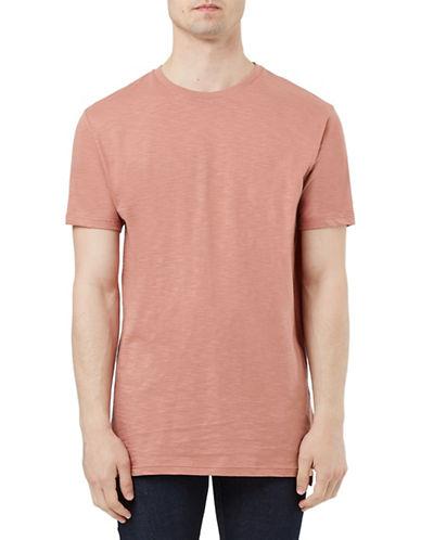 Topman Slub Longline T-Shirt-PINK-X-Small 88455830_PINK_X-Small