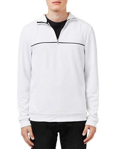 Topman White and Black Tracksuit Top-WHITE-X-Small 88564546_WHITE_X-Small