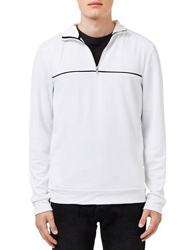 Topman White and Black Tracksuit Top-WHITE-Medium 88564549_WHITE_Medium