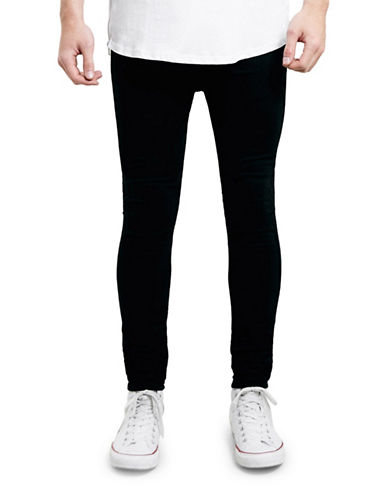 Topman Reuben Spray-On Skinny Jeans-BLACK-34 Long