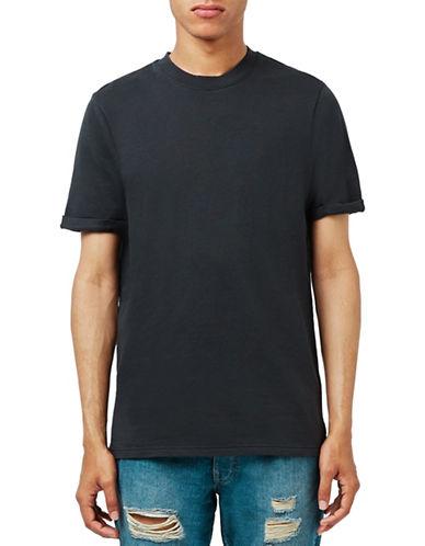 Topman Washed Short Sleeve Sweatshirt-BLACK-Large 88637210_BLACK_Large