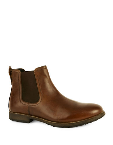 Topman Salute Leather Chelsea Boots-BROWN-EU 43/US 10