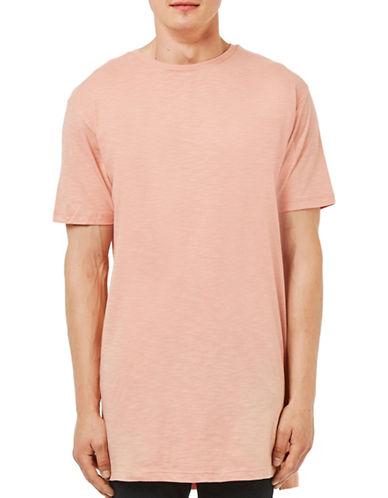 Topman Step Hem Longline T-Shirt-PINK-Small 88611691_PINK_Small