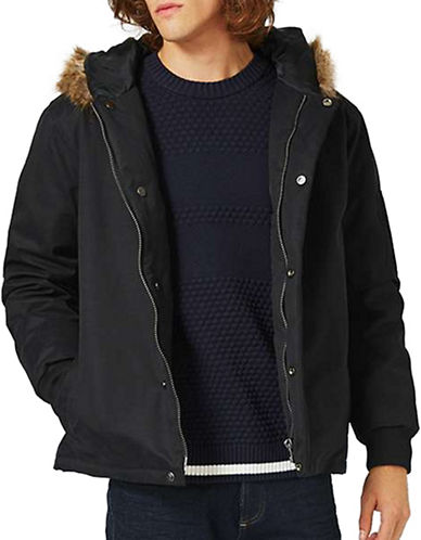 Topman LTD Premium Duck Down Bomber Jacket-BLACK-Small 88845081_BLACK_Small