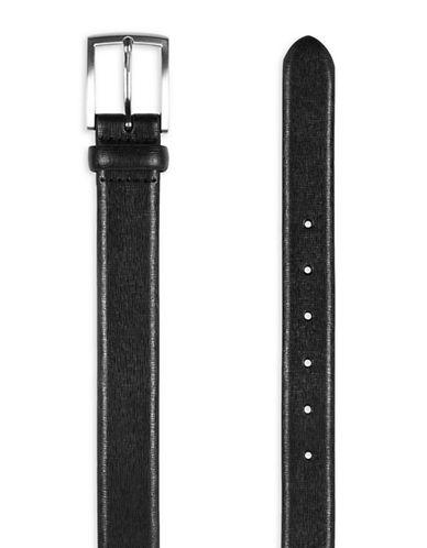 Topman Leather Belt-BLACK-Small/Medium