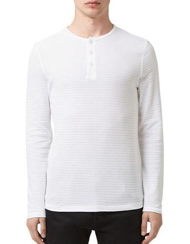 Topman Olly Waffle-Knit Grandad Top-WHITE-X-Large 88708684_WHITE_X-Large