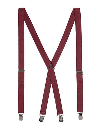 Topman Skinny Suspenders-BURGUNDY-One Size