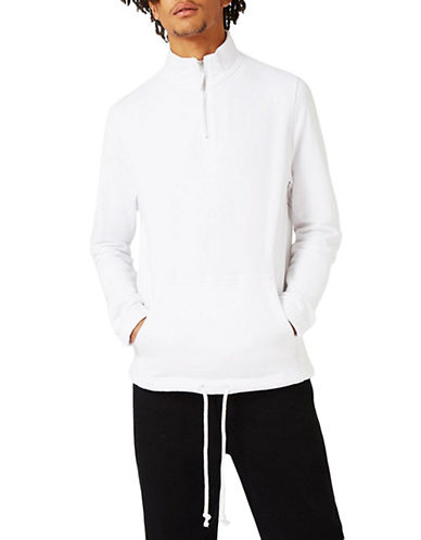 Topman Dudley High Neck Sweater-WHITE-Large