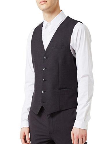 Topman Twill Waistcoat-BLACK-40