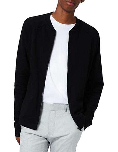 Topman Classic Bomber Jacket-BLACK-Small 88815510_BLACK_Small