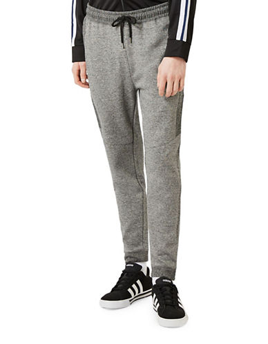Topman Salt-and-Pepper Joggers-GREY-Large