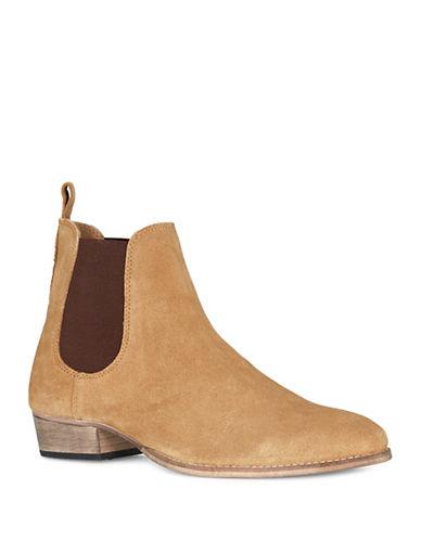 Topman York Chelsea Suede Boots-BROWN-42