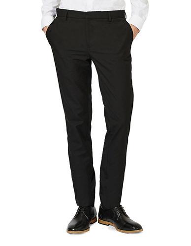 Topman Skinny Fit Dress Pants-BLACK-34 Long