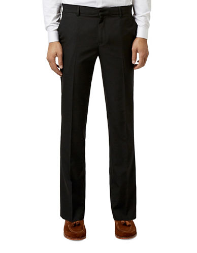 Topman Slim Fit Dress Pants-BLACK-28 Short