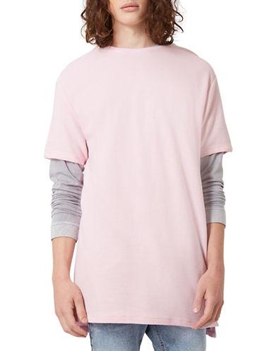 Topman Longline T-Shirt-PINK-Small 88851063_PINK_Small