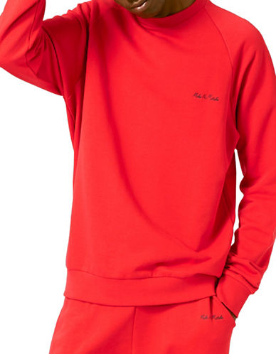 Topman AAA Make No Mistake Embroidered Slogan Sweatshirt-RED-Large 88771232_RED_Large
