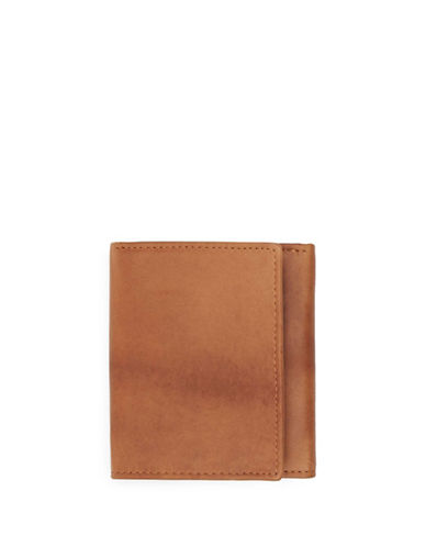 Topman Leather Trifold Wallet-LIGHT BROWN-One Size