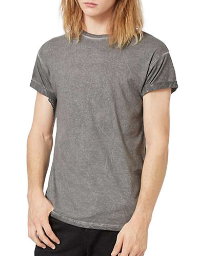 Topman Crinkle Wash Muscle Fit T-Shirt-GREY-X-Small 88878575_GREY_X-Small