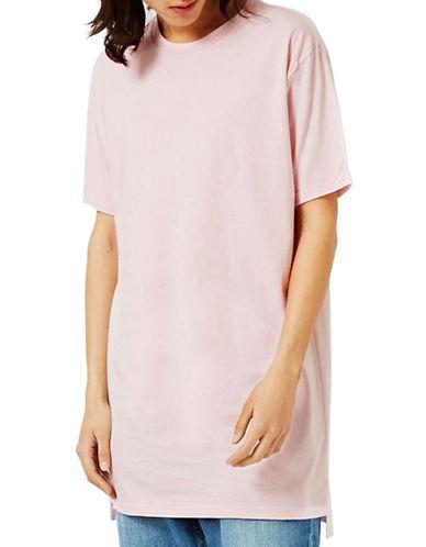 Topman Longline T-Shirt-PINK-Small 88892485_PINK_Small