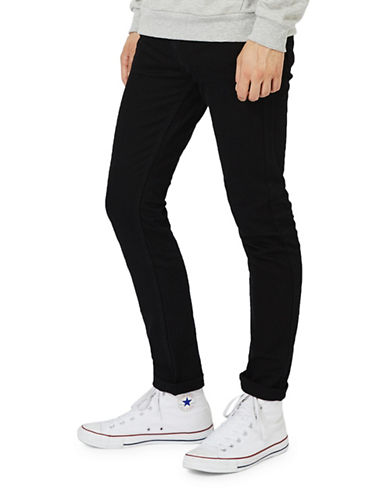 Topman Morgan Stretch Skinny Jeans-BLACK-30