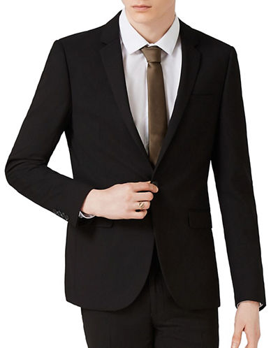 Topman Ultra Skinny Fit Suit Jacket-BLACK-42