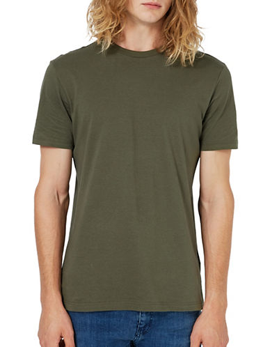 Topman Khaki Jersey Slim Fit T-Shirt-KHAKI/OLIVE-X-Large