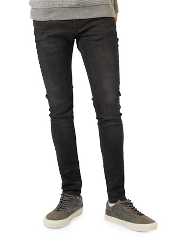 Topman Spray On Jeans-BLACK-34 Long