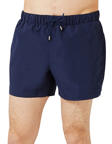 Topman Neptune Swim Shorts-DARK BLUE-X-Small