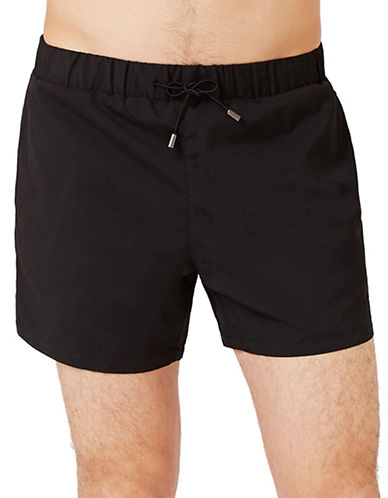 Topman Solid Swim Shorts-BLACK-Small/Medium 89048819_BLACK_Small/Medium