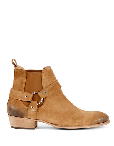 Topman East Harness Suede Boots-BROWN-EU 43/US 10