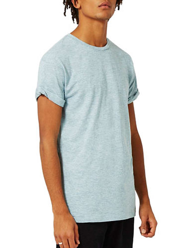Topman Slub Textured Muscle Fit Roller T-Shirt-GREEN-X-Large