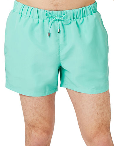 Topman Neptune Swim Shorts-LIGHT GREEN-Large/X-Large