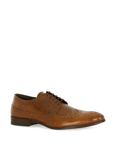 Topman Mercy Leather Brogues-BROWN-44
