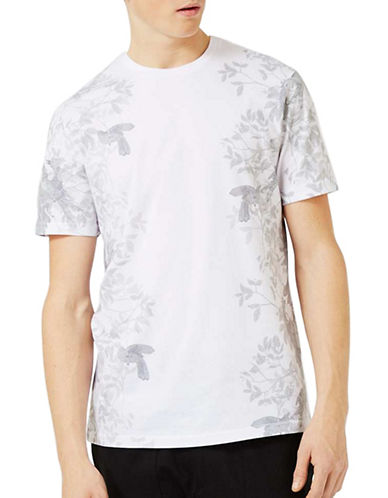 Topman Floral Print Slim Fit T-Shirt-WHITE-Small