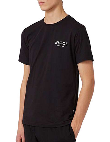 Topman NICCE Logo T-Shirt-BLACK-Medium 89415503_BLACK_Medium