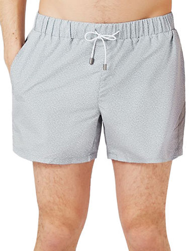 Topman Marl Swim Shorts-GREY-X-Small