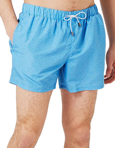 Topman Marl Swim Shorts-BLUE-Large/X-Large