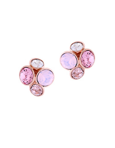 Ted Baker London Lynda Swarovski Crystal Jewel Cluster Stud Earrings-PINK-One Size