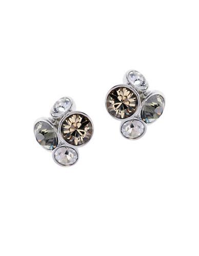 Ted Baker London Lynda Swarovski Crystal Jewel Cluster Stud Earrings-GREY-One Size