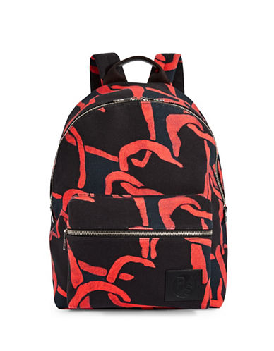 Paul Smith Cotton Canvas Backpack-RED-One Size