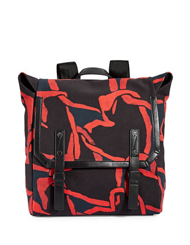 Paul Smith Cotton Canvas Military Backpack-RED-One Size