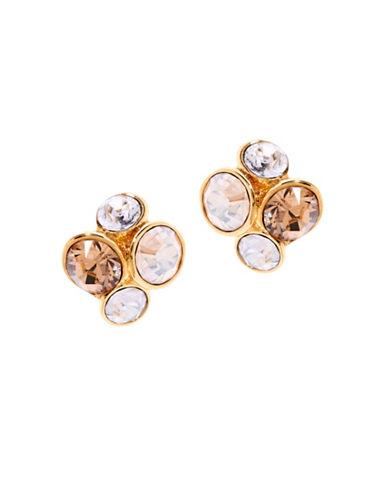 Ted Baker London Lynda Swarovski Crystal Jewel Cluster Stud Earrings-YELLOW-One Size