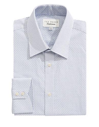 Ted Baker Endurance Timeless Patterned Dress Shirt-NAVY-16-32/33
