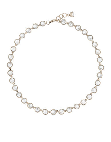 Ted Baker London Rosele Rivoli Swarovski Crystal Single Strand Necklace-ROSE GOLD-One Size