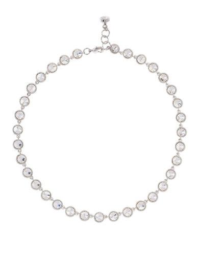 Ted Baker London Rosele Rivoli Swarovski Crystal Single Strand Necklace-SILVER-One Size