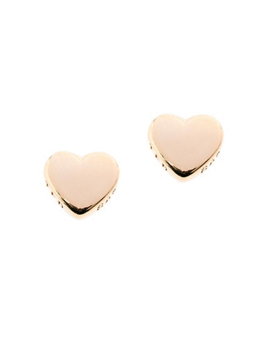 Ted Baker London Harly Tiny Heart Stud Earrings-GOLD-One Size
