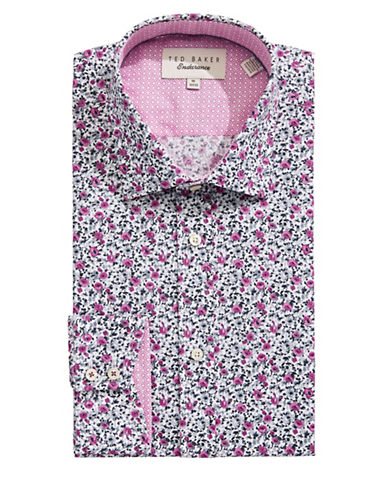 Ted Baker Endurance Endurance Sterling Floral Dress Shirt-PINK-16.5-34/35