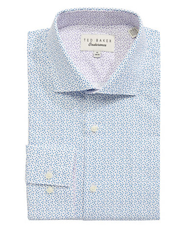 Ted Baker Endurance Triangle Pattern Shirt-LIGHT BLUE-16-34/35